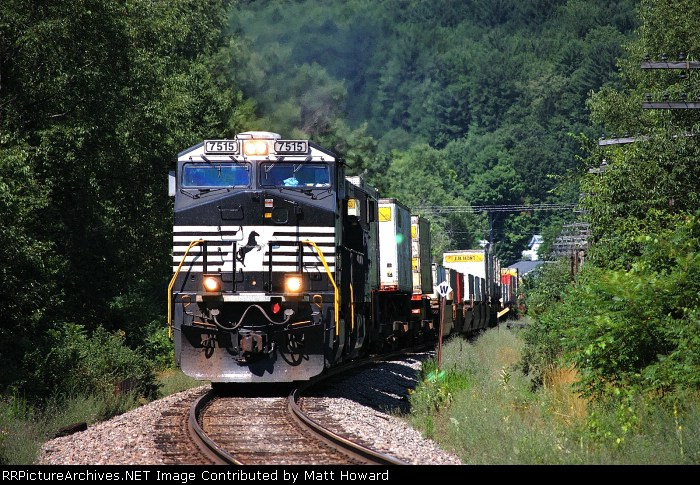Train 169 working upgrade again at Cooperstown Junction