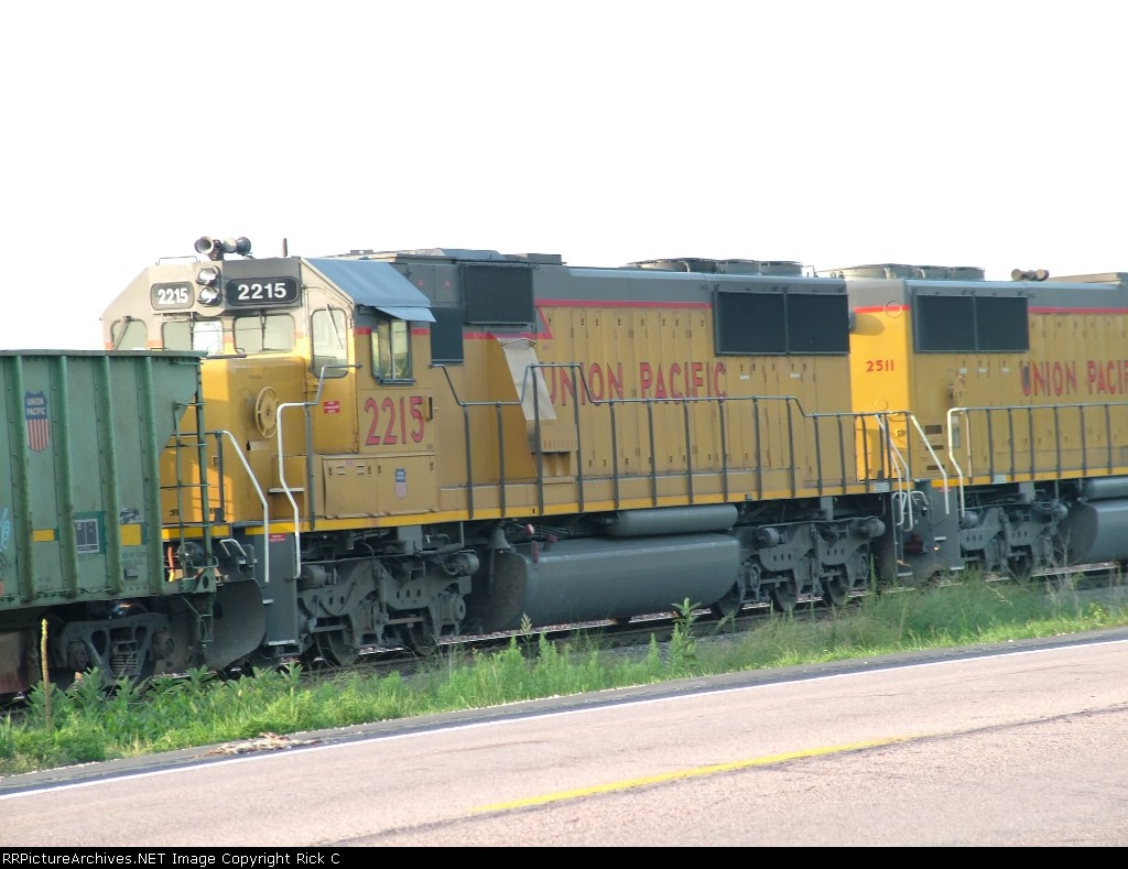 UP 2215 Is #4 on a MOW Train