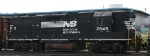 NS 2849 heads out of the yard