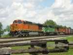 BNSF 5012 sits Just East of fostoria
