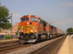 BNSF 7724, Heads West At Naperville, He was Doing 75 Mph plus