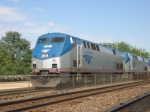 AMTK 22, Makes A quick Stop At Naperville, nd continues on her way