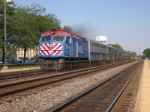 METX 196, does 60MPH past the Naperville Platform, Headed for Aurora
