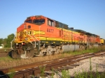 BNSF 4477 waits for her new crew in Durand Michigan