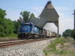 CSX 8867 and HLCX 6401 Highball Under The Coaling Tower at New Buffalo Michigan