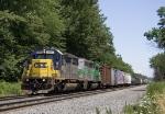 CSX 8816 leads manifest westbound