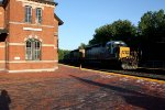 CSX #8410 on Westbound freight passing station