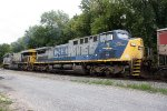 CSX 1 trailing unit on eastbound coal train