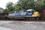 Second unit on ballast train - CSX #4408