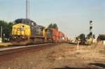 Q164 Goes East lead by CSXT 7743