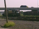 NS 5666 is on another yard track