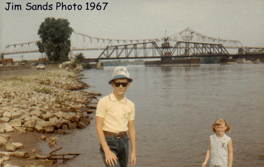 Milw RR Bridge at McGregor Iowa I think 1967