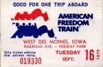 Freedom Train Ticket 1975