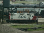 SOO Unit sitting at the Engine House