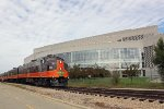 """Pullman Rail Journeys' """"Varsity"""" re-creation excursion ready to depart from the Kohl Center"""