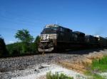 NS 2753  WB autorack train slowing down to meet 2 EB in Wentzville.