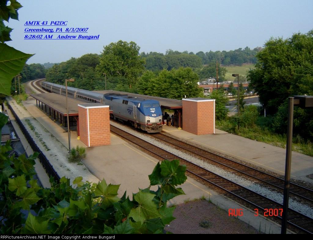 AMTK 43    P42DC    Aug 3, 2007
