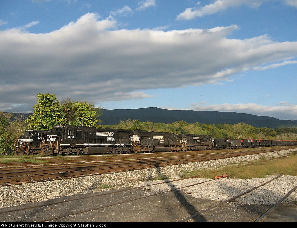 NS 8688, 2550 & 8584 tied down for the morning