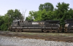 NS 8887 waits to take a mixed freight to Roanoke, VA.