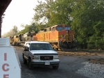 BNSF 4552 heads up a trio of variety