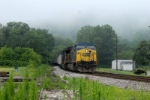 it s foggy july morning in west virginia as a A&O loads