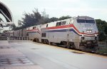 SB Silver Star going by the Tri-Rail Station of Opa Locka