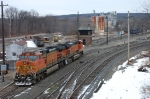 The BNSF power will quickly re-fuel and then tie back on to their train and head east.
