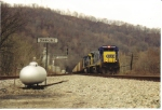 CSX 7611 leads empties