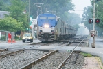 Northbound train #80 trundles through town