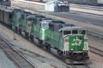 Quartet of ex-BN SD60M