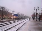 Amtrak in the snow
