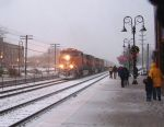 BNSF 5017 in the Blizzard