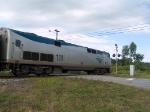 AMTK 111, rear engine on nr 55, Ethan Allen Express/Vermonter at 9:12am