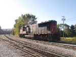 CN 5630 moves to the opposite end of the wye to turn around at 8:57am