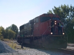 CN 5630 coming back around the wye to hook up to CN323 to go north at 9:49am