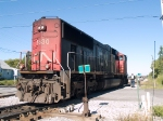 CN 5630 moves on after the switch is thrown at 9:49am