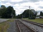 The approach to the Amtrak station looking south
