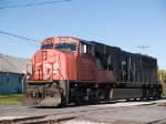 CN 5695 moves towards the wye to turn around from CN324 at 8:24am 