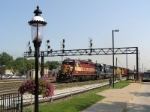 WC 3024 passes the railroad park
