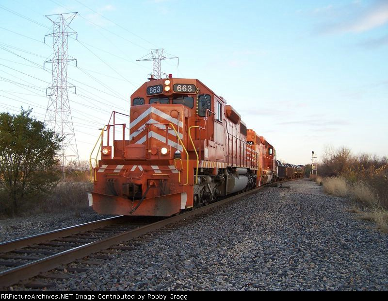 663 heads west