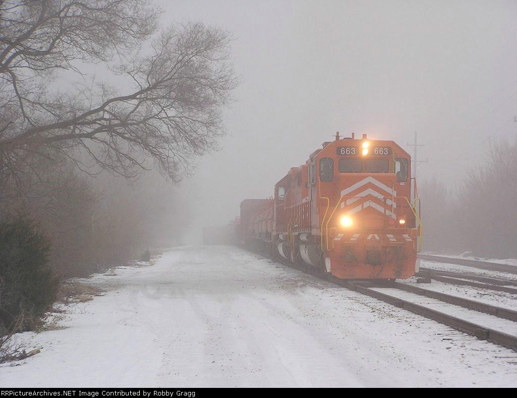 663 heads through the fog