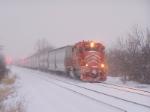 EJ&E 659 battles the snow