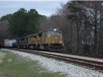 UP 4951 leads southbound csx mixed feight