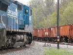 Passing a string of ballast hoppers