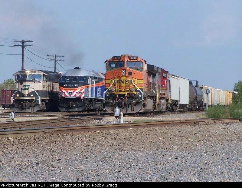 Three trains meet