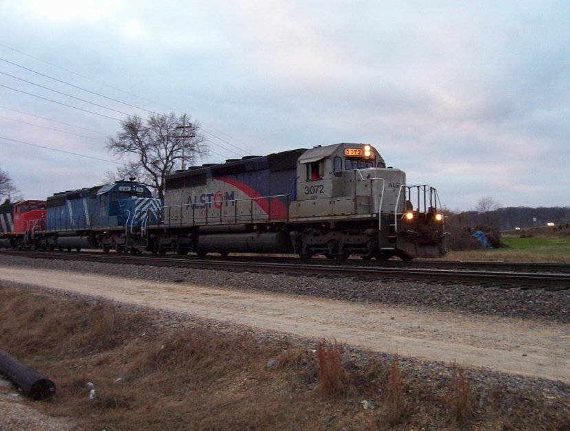 Northbound Manifest With the Alstom SD40-2 Rebuild Demonstrator Locomotive