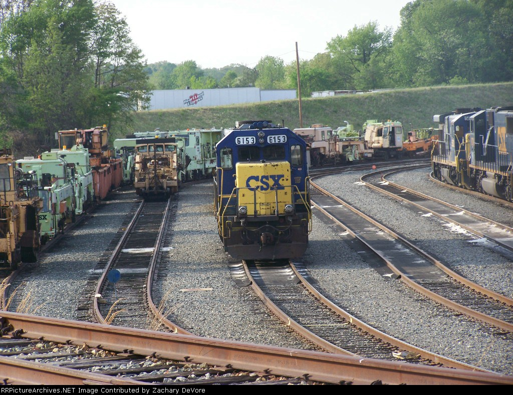 CSX 6153 and a Whole Lot of MOW Equipment