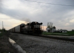 NS 2531 A lone SD70 leads a string of empty autoracks towards St. Louis on this nice quiet evening.