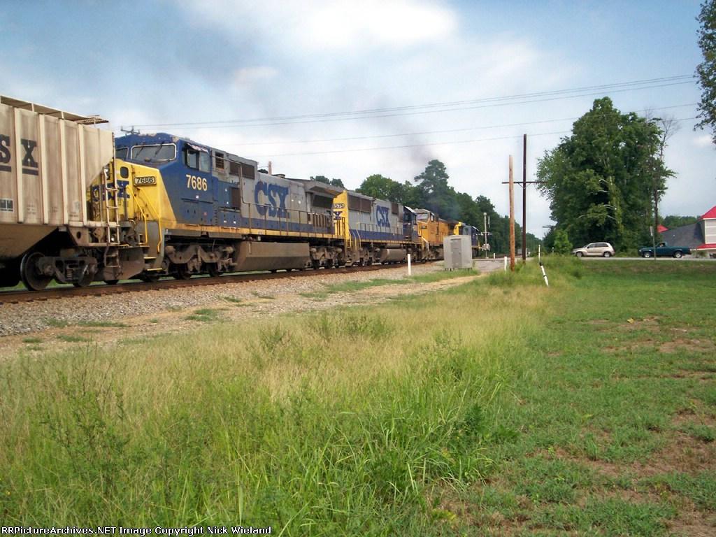 The NB Grain train's lashup