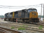 CSX 776 & 4558 rolling through the yard after cutting off from their train